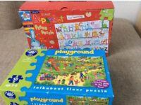 2 x 50 piece jigsaw puzzles Orchard toys giant alphabet