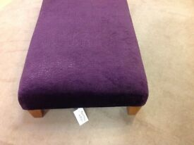 Aubergine footstool 62 cms wide x 122 cms long x 27 cms high