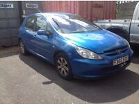 BREAKING - 2002 Peugeot 307 2.0 HDI - Car Parts Available