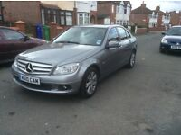 Mercedes Benz C180 BLUEEFNCY SE 4dr saloon 2010 silver colour 1 owner full service history £7300