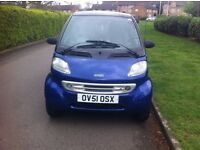 Smart Car Fourtwo Auto, On 51 Plate, 8 Months MOT & 6 Months R/Tax, Full Leather Seat, Pioneer Cd