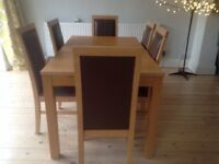 IKEA Extendable Dining Room Table with 6 chairs