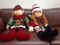 Large Beautiful boy and girl elves. 110cm tall