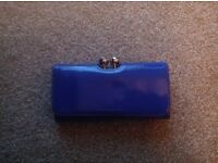 Ted Baker purse, mauve with grey clasp and TB letters embolished in gold on them
