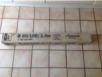 Worcester Bosch 100 X 60mm 1m flue extension