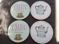 4 Cork Backed Coasters