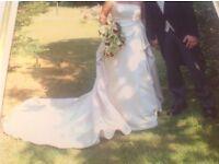 DESIGNER IVORY WEDDING DRESS SIZE 12-14