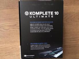 Komplete 10 ultimate instruments and effects collection