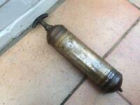Vintage brass fire extinguisher