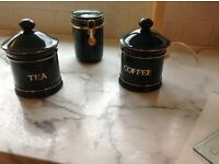Set of Hornsea China Cannisters for Tea, Coffee and Sugar