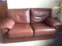 Beautiful soft leather sofa bed