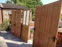 Solid wood internal doors x5