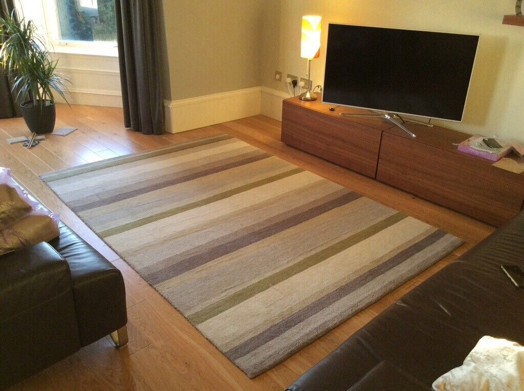 John Lewis Striped Rug In Immaculate Condition