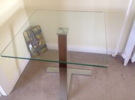 Small glass side/coffee table