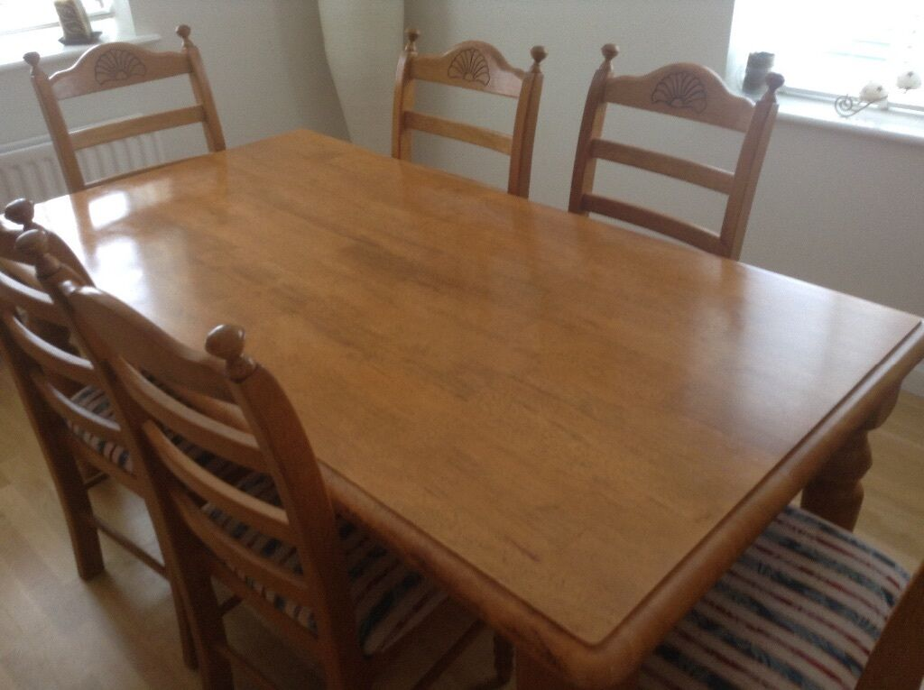 Dining Table 6 Chairs In Long Stratton Norfolk Gumtree
