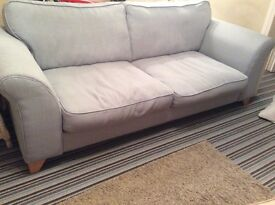 Beautiful DFS 2 seater Duck Egg colour sofa