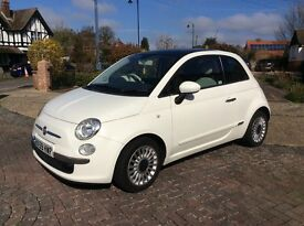 Fiat500 lady driver, dualogic gearbox, very low mileage, full service history, New M.O.T.