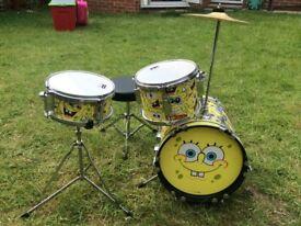 Sponge Bob Square Pants Drum Kit