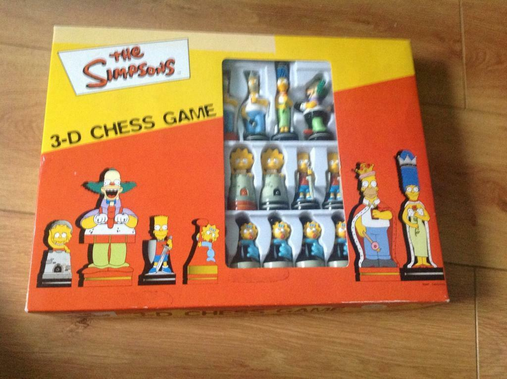 The Simpsons 3d Chess Game New In Shawlands Glasgow