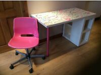 Ikea junior desk and chair.
