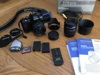 Olympus E-620 digital SLR. Twin lens kit. 14-42mm & 40-150mm. Two genuine batteries. Basic remote.