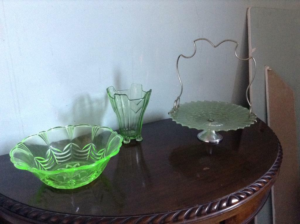 Green glass uranium/Vaseline collection