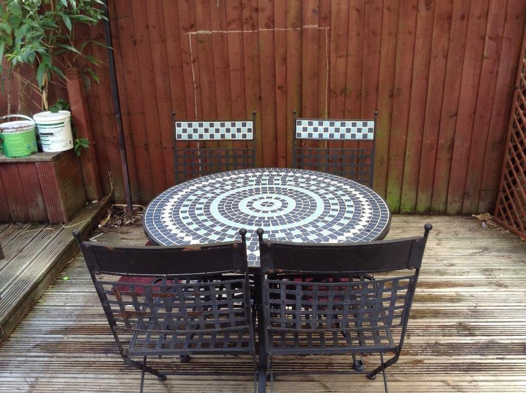 Mosiac table and chairs in long eaton nottinghamshire gumtree