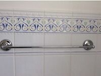 Chrome towel rail 60cm Maching mirror also available.