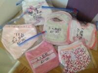 Bundle of girls bibs
