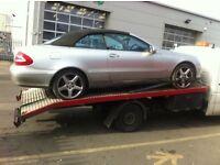 Mercedes clk complete car breaking