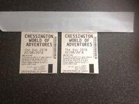 Chessington tickets X 2