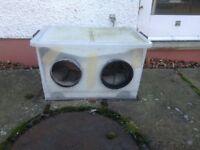 Outside winter cat box