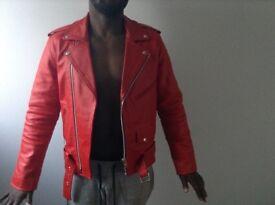 Red vintage reclaimed jacket