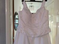 Wedding dress size L