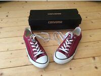 Burgundy Converse Size 8