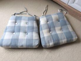 Laura Ashley Duck Egg Blue Seatpad Cushions x2