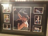 "Signed Rihanna multi photo frame 32"" x 22"" with certificate of authenticity"