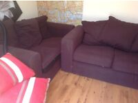 Ideal for students 2 lovely dark brown sofas