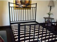 Double bed iron frame superior quality ( free delivery see description)