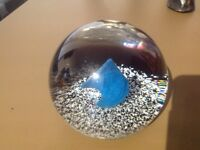 LIMITED EDITION CAITHNESS GLASS PAPERWEIGHT - ICE FLAME - 378/1000