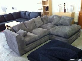 BRAND NEW- Dylan Jumbo Cord Corner Sofa Suite or 3 and 2 Set - SAME DAY DELIVERY!