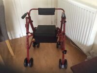 Brand new mobility walker with seat and shopping bag. Has never been used