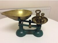 Vintage Brass Weighing Scales