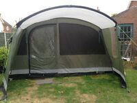 Outwell Florida 8 tent with Awning, footprint, carpet and electrical hook up cable