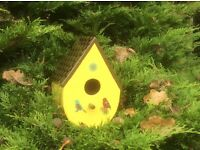 BIRD HOUSE handmade (see all photos for colours available)