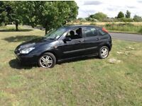 03 Ford Focus 1,6 black 12 months mot low tax n insurances £595
