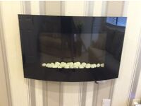 Wall mounted electric fire ,2kw,2settings,dimmer light