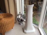 Antique Vitreous China Sink Pedestal £10,Vintage Chrome LANTHE Lucky Horseshoe Companion set £25 ono