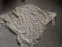 Beautiful hand made cream shawl