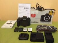 Canon EOS 760D camera with extra batteries
